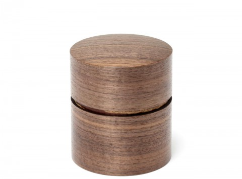 茶筒(平)くるみ