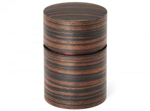 茶筒(大) 黒檀柾目