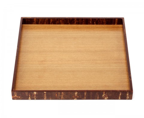 square tray - Cherry