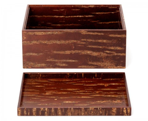 rectangular tea set chest - Natural